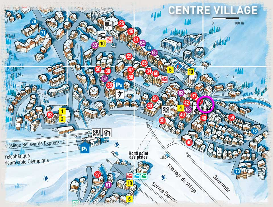 Val D Isere Access Plan